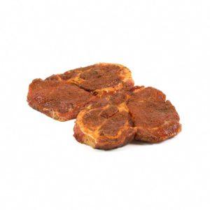 Schweine-Halssteak mit Paprika mariniert
